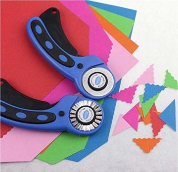 Cozywind 45mm Rollschneider Set Stoffschneider,Rundklingen Cutter Rollmesser inkl Ersatzklingen,Schneidematte/Schneideunterlage,Patchwork-Lineal für Stoff, Papier, Leder - 9