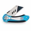 SolidWork Profi Cuttermesser inkl. ultra scharfen Ersatzklingen – klappbares Teppichmesser mit Sicherheitslock und Gürtelclip - 1