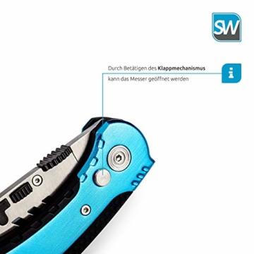 SolidWork Profi Cuttermesser inkl. ultra scharfen Ersatzklingen – klappbares Teppichmesser mit Sicherheitslock und Gürtelclip - 3